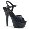 KISS-209MMG Black Glitter Faux Leather